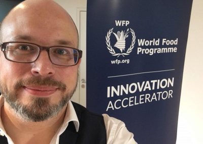 Restaurantmarketing - Erik Leonavicius als Innovationsexperte bei der Global Entrepreneurship Sommer School beim World Food Programme - Referenz - Innovation - REINVENTIS - Innovationsberatung - München